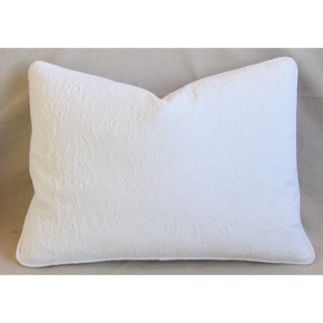 "French Provençal Quilted Feather/Down Pillows 23"" X 17"" - Pair For Sale - Image 11 of 13"