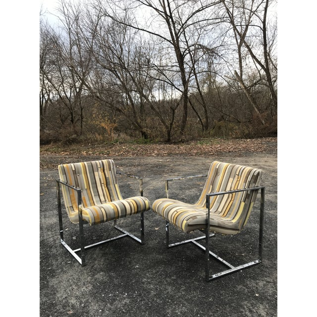 1970s Fantastic Scoop Chairs New Textural Cotton Velvet Silver-Craft For Sale - Image 5 of 13