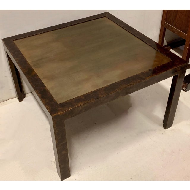John Widdicomb John Widdicomb Modern Parsons Style Table For Sale - Image 4 of 6