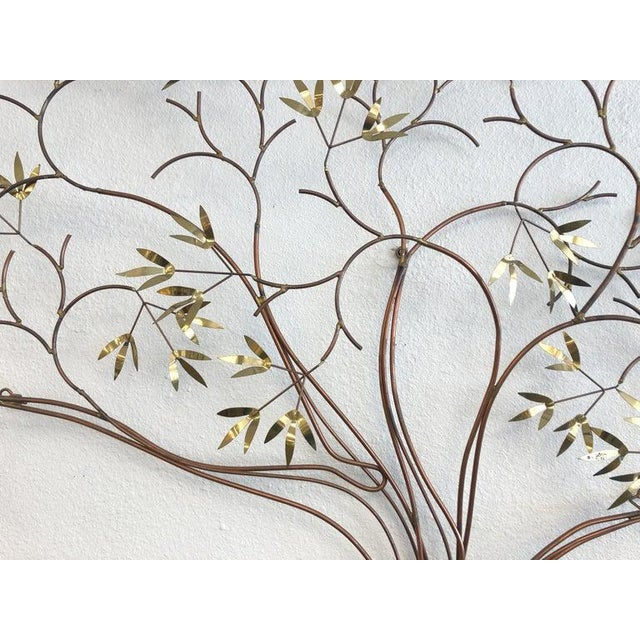Copper and Brass Tree Wall Sculpture by Curtis Jeré For Sale In Palm Springs - Image 6 of 8