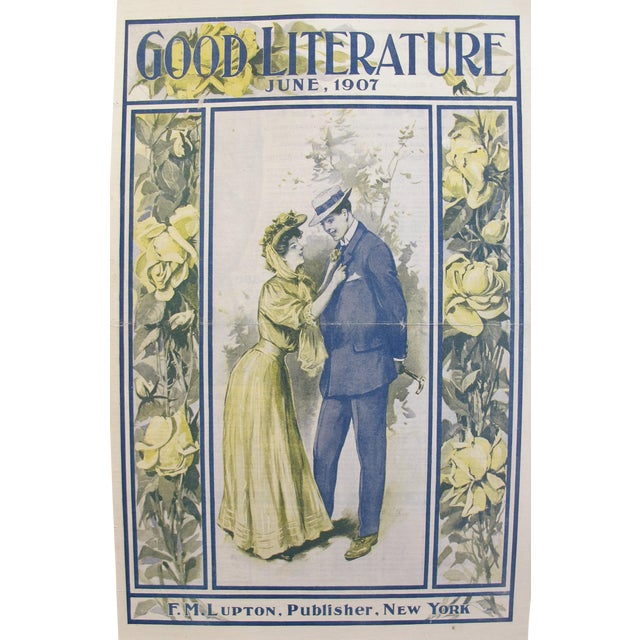 1907 Original Good Literature Magazine Cover, F.M. Lupton For Sale