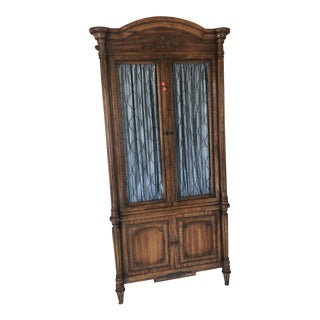 1970's French Provincial Fruitwood Armoire For Sale