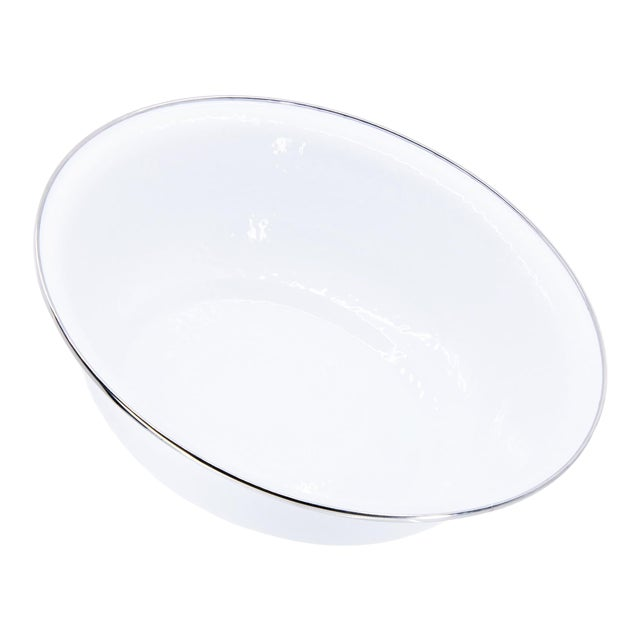 Serving Basin White on White - 4 qts. For Sale