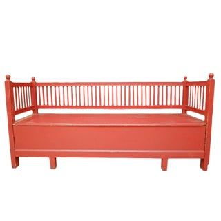 Antique Swedish Trundle Bench For Sale