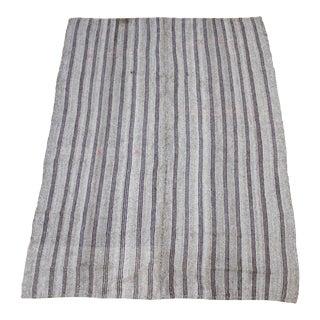 Vintage Turkish Flat-Weave Rug With Stripes For Sale