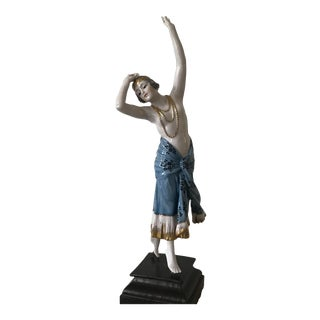 Art Deco Porcelain Figurine German Dancer Lorenzl Goldscheider Austrian Style For Sale