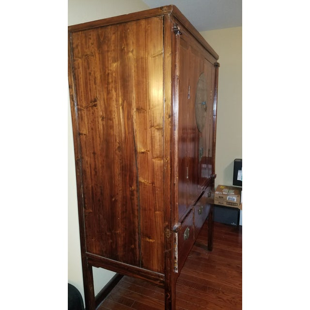 Rosewood Asian Armoire Cabinet - Chino, Ca - Image 3 of 11