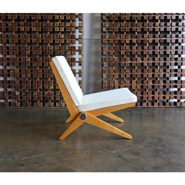 Knoll International Scissor Lounge Chairs by Pierre Jeanneret for Knoll International - a Pair For Sale - Image 4 of 12