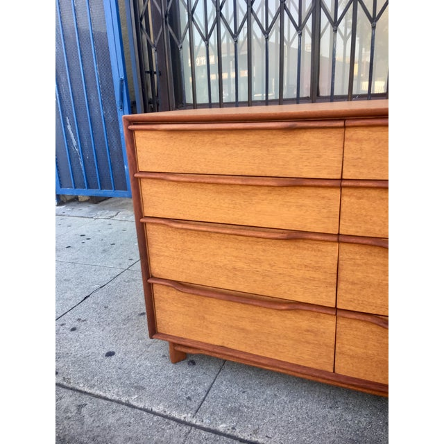 Mid-Century Sculptural Credenza with Cane Details For Sale - Image 4 of 10