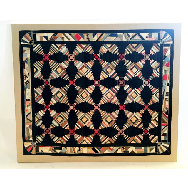 1870s Pennsylvania Pineapple Quilt - Image 2 of 5