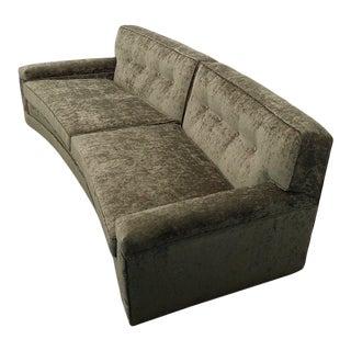1960s Vintage Edward Wormley for Dunbar Curved Sofa For Sale
