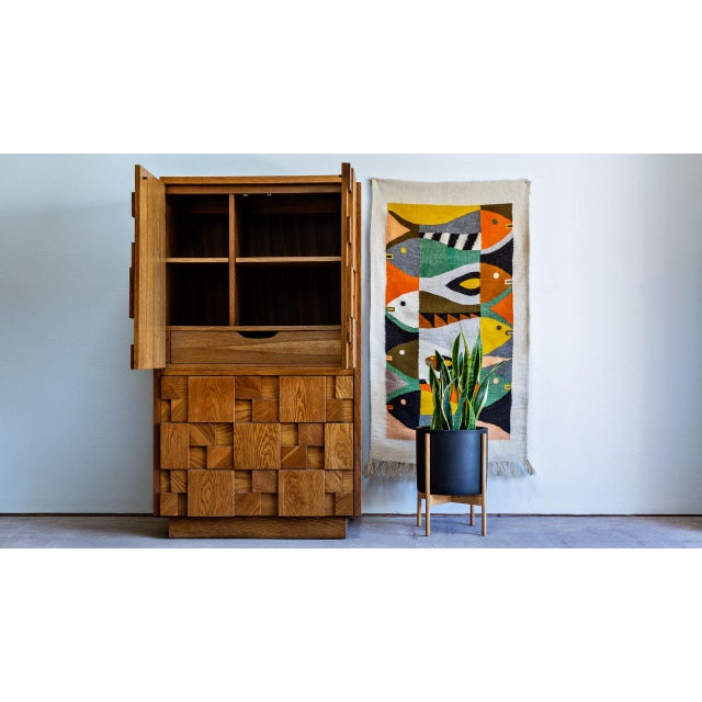 Brutalist 1970s Brutalist Lane Armoire For Sale - Image 3 of 10