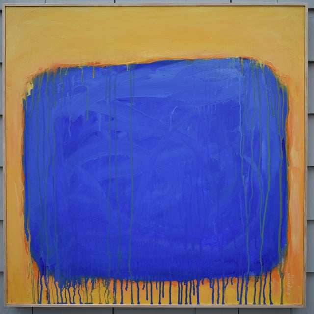 """The Sun Came Up and It Was Blue and Gold"" Contemporary Abstract Painting by Stephen Remick For Sale - Image 11 of 11"