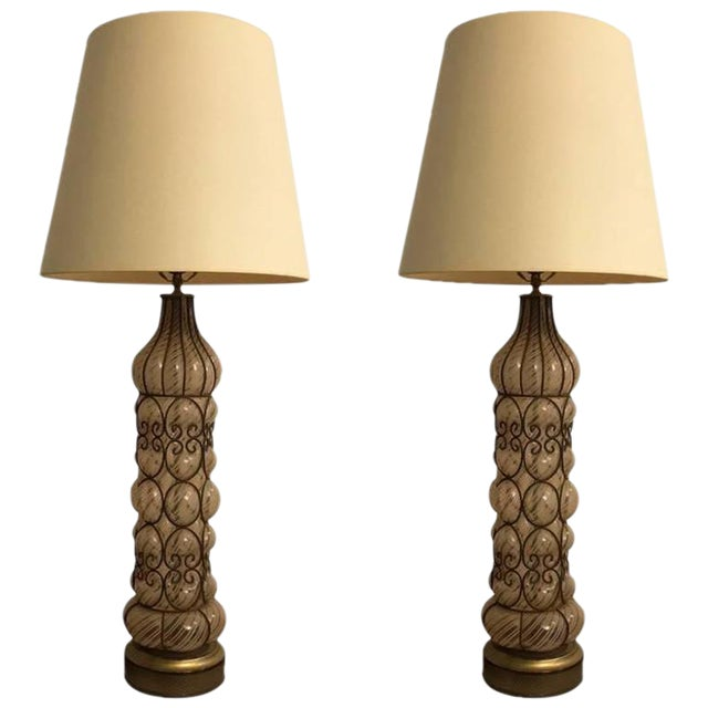Italian Mid-Century Table Lamps - A Pair - Image 1 of 8