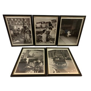 1990s Robert Doisneau Graphique De France Photo Reprint Offset Lithographs - Set of 5 For Sale