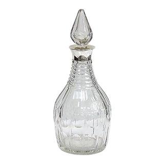1985 Sterling Collar Crystal Liquor Decanter