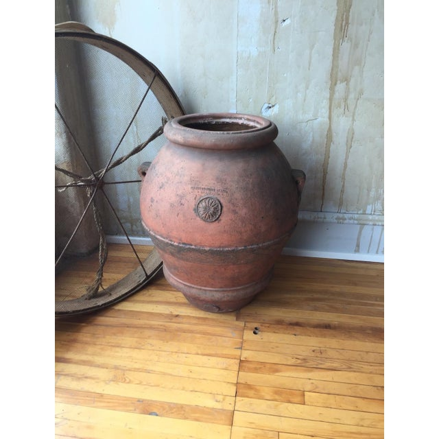 Antique Italian Terra Cotta Oil Pot For Sale - Image 4 of 8