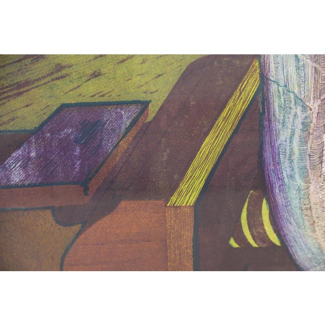 Abstract Roland Petersen Original Abstract Etching W/ Aquatint C.1970s For Sale - Image 3 of 12