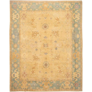 21st Century Modern Extra Large Turkish Oushak Wool Rug For Sale