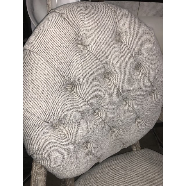 Tan Contemporary Tufted Upholstered Armchair For Sale - Image 8 of 9