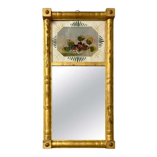 19th Century Federal Eglomise Decorated Wall or Table Mirror For Sale