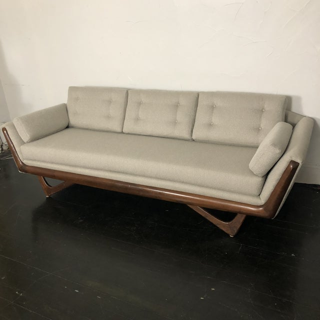 Gorgeous fully restored 1960s Gondola Sofa by Adrian Pearsall for Craft Associates. Fully reatored with new high density...