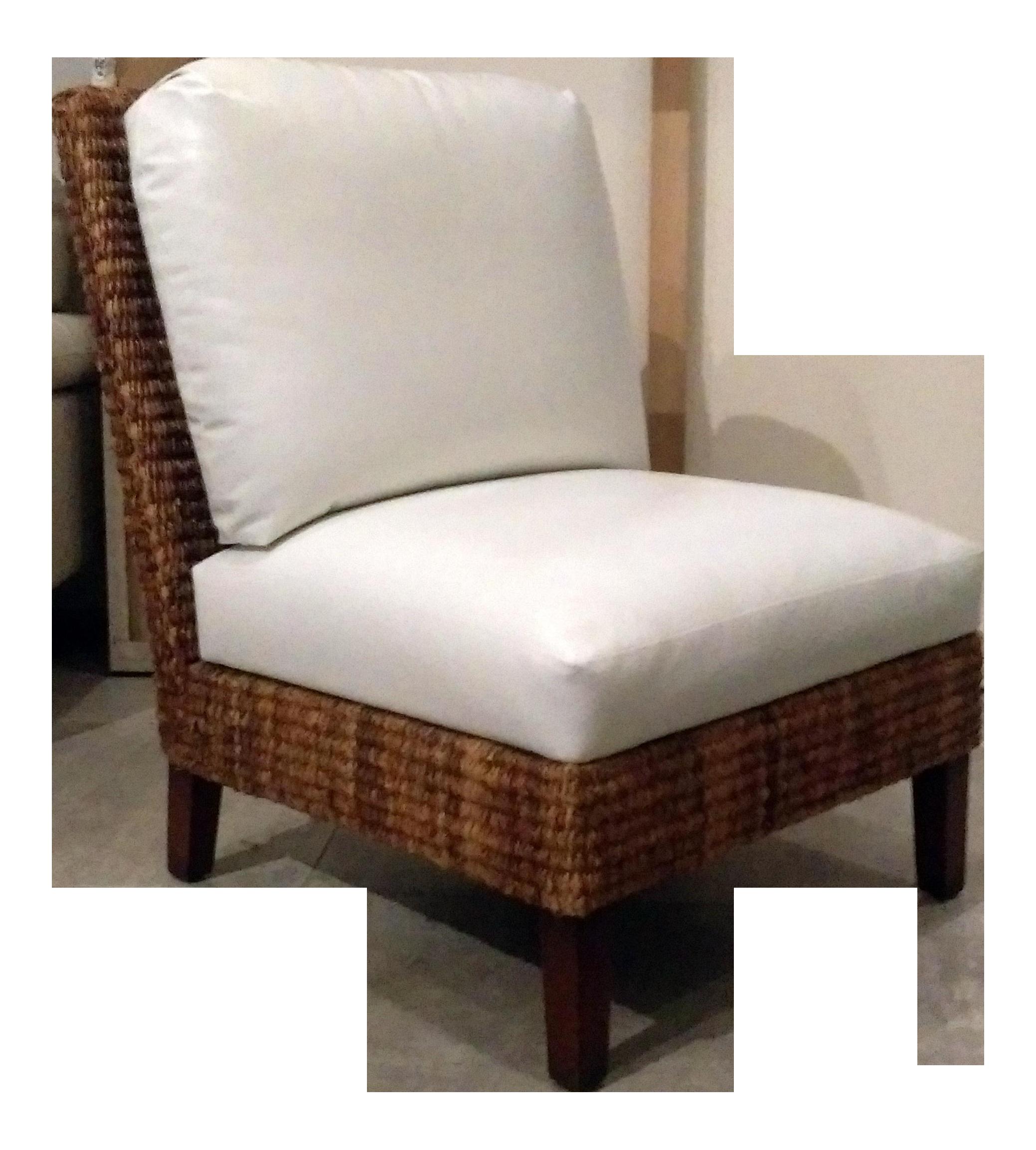 Palecek Havana Rattan Armless Chair