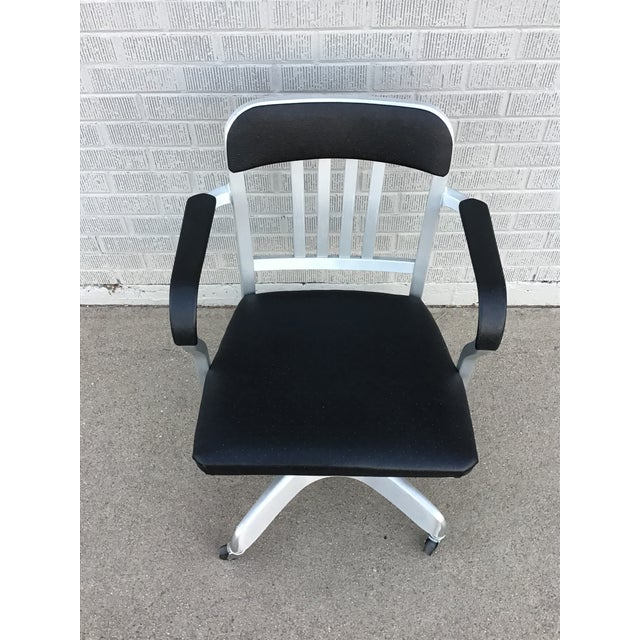 Emeco Vintage Emeco Rolling Office Chair For Sale - Image 4 of 13