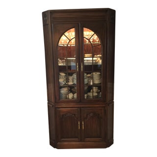 Cherry Wood Corner China Cabinet