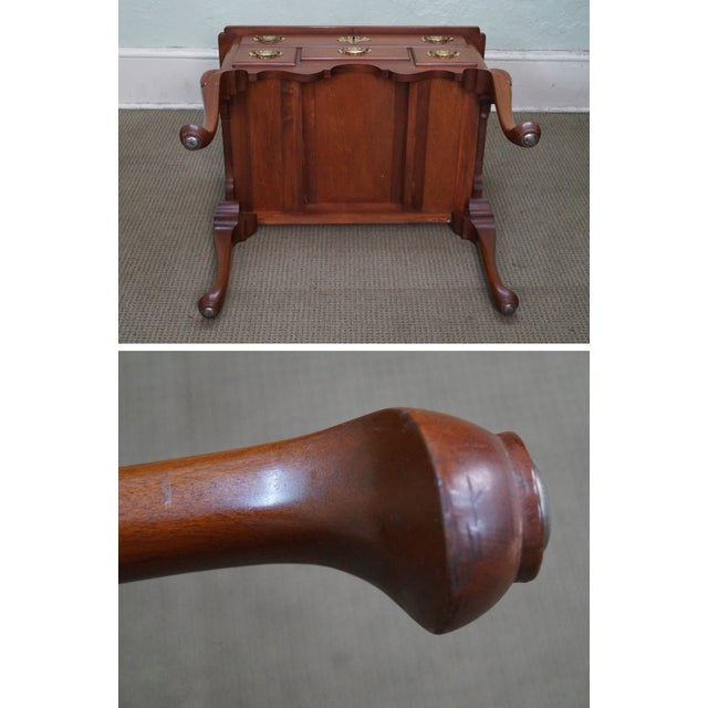 Queen Anne Style Solid Mahogany Low Boy - Image 10 of 10