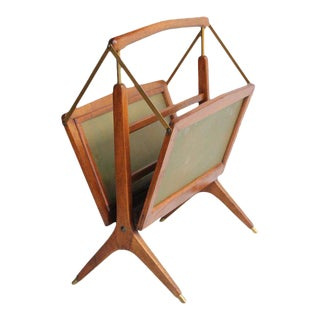 Cesare Lacca Mid-Century Italian Magazine Rack For Sale