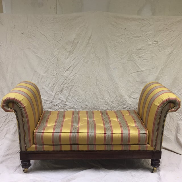 Gold Lillian August Upholstered Bench For Sale - Image 8 of 11