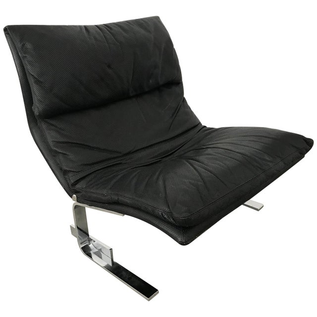 """Giovanni Offredi """"Onda"""" Postmodern Wave Lounge Chair for Saporiti For Sale - Image 11 of 11"""
