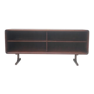 Scandinavian Rosewood Low Bookshelf or Display Case For Sale