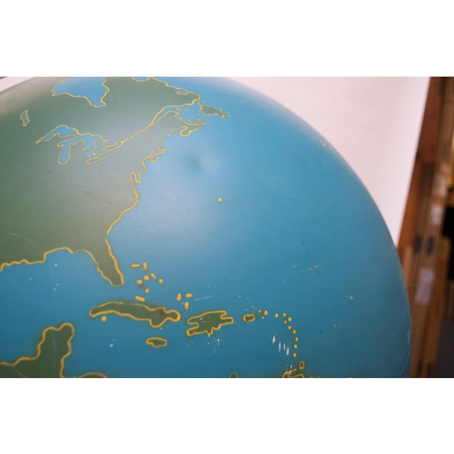 Blue Large-Scale Vintage Military Globe / Activity Globe by a.j. Nystrom For Sale - Image 8 of 13