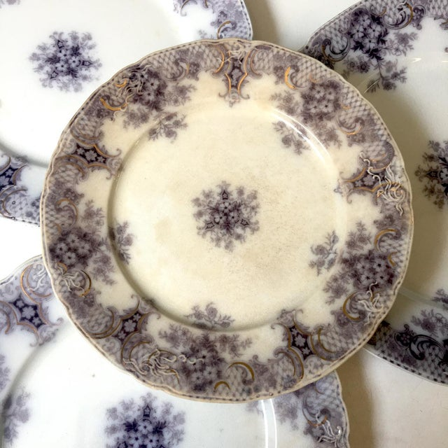 1900 - 1909 1900s Wood and Son Keswick Purple Plate Collection - 4 Pieces For Sale - Image 5 of 8