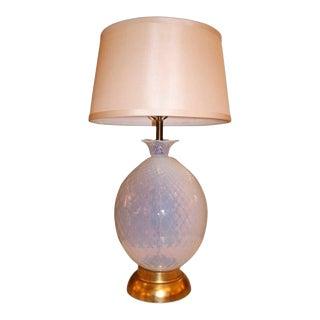Marbro 1950's Italian Seguso Murano Glass Pineapple Table Lamp For Sale
