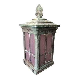 1910s Neoclassical Copper Lantern For Sale