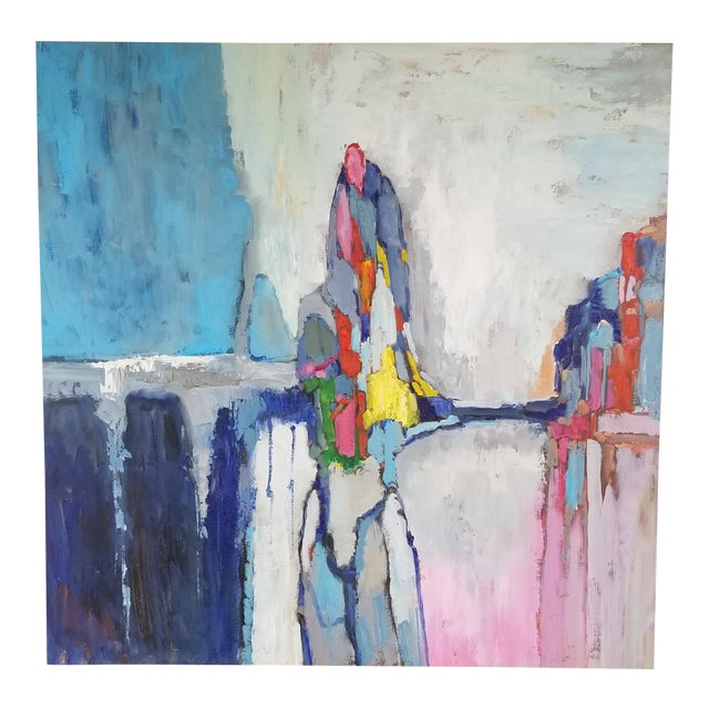 Original Acrylic Abstract Landscape Painting For Sale