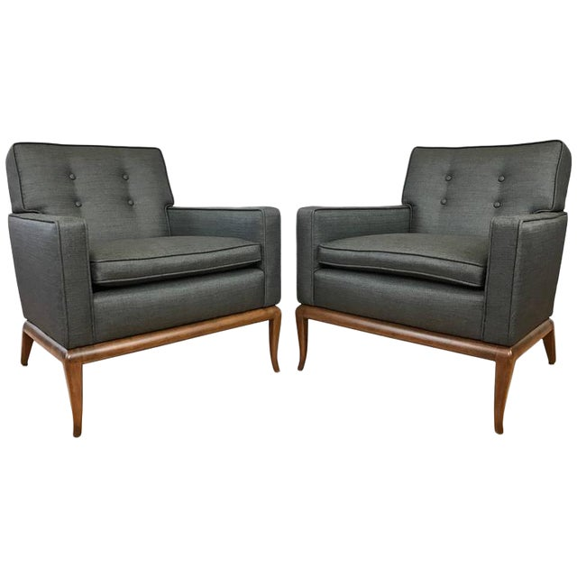 Robsjohn-Gibbings for Widdicomb Lounge Chairs - A Pair - Image 1 of 9