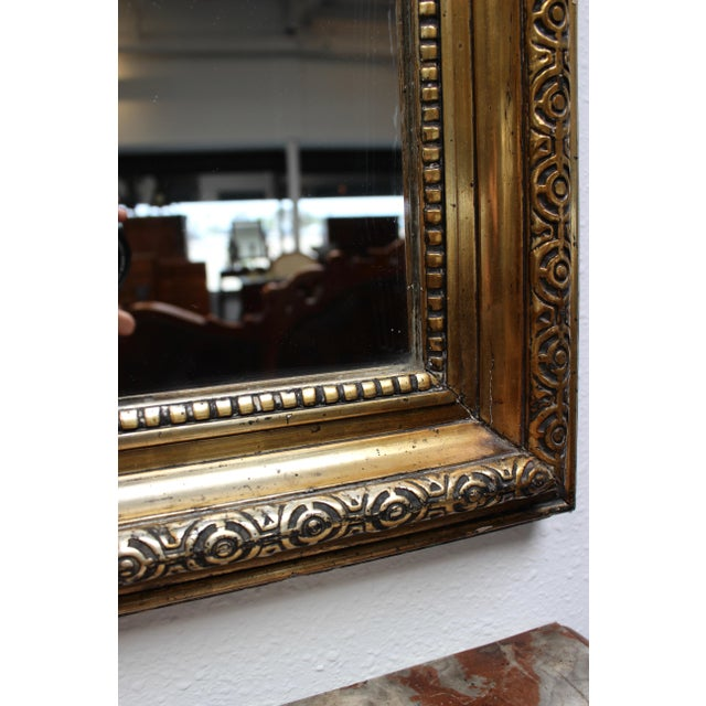 French Federal Gold Gilt Mirror For Sale In Los Angeles - Image 6 of 7