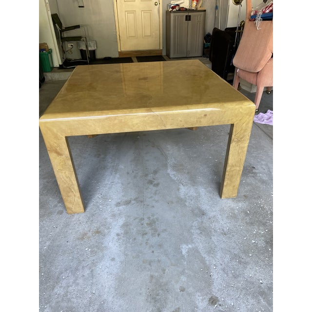 1980s Goat Skin Dining Table For Sale In Chicago - Image 6 of 9