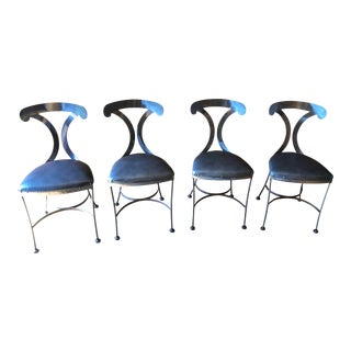 Shaver Howard Metal Dining Chairs - Set of 4 For Sale