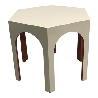 Baker Furniture Middle Eastern Style Tangier Center Hall Hexagonal Lacquered Table For Sale