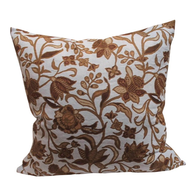 Pair of Stenciled on Linen Pillows For Sale