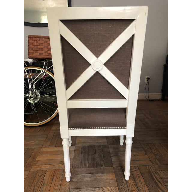 Gray Jonathan Adler Dining Chairs - a Pair For Sale - Image 8 of 11