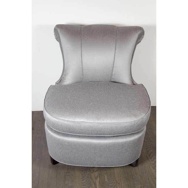 Dorothy Draper Glamorous 1940s Hollywood Scroll Design Slipper Chair by Dorothy Draper For Sale - Image 4 of 7