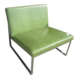 B.2 Lounge Chair Designed by Fabien Baron for Bernhardt in Green Patent Leather For Sale