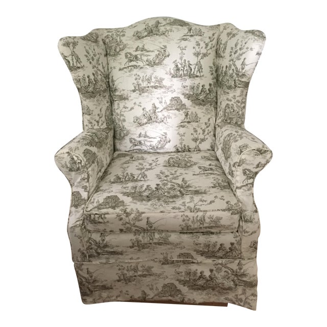 Heirloom Wingback Style Arm Chair by Baker Furniture For Sale
