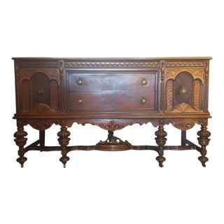Antique Jacobean Wooden Buffet For Sale